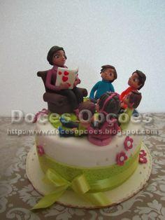 Doces Opções: Bolo de aniversário da avó com os seus netos