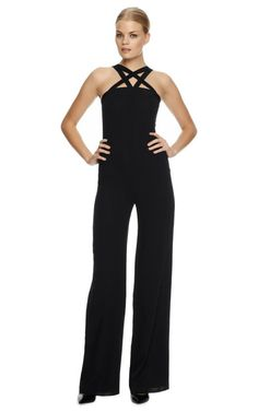 i wish i could find a jumpsuit that was long enough ...! Strappy Wool Jumpsuit by Martin Grant - Moda Operandi