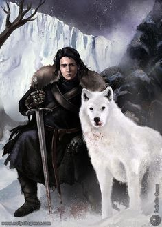 33 dibujos de Jon Snow y Ghost para usar como wallpaper | It's Spoiler Time!