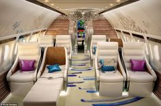 According to AirJet Designs, customers no longer want boring grey and beige colours when planning private jet interiors