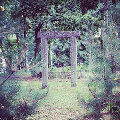 #Torii Parc de la Source #louvainlaneuve #louvainlagram #Belgium September 2013 #sculpture #nature #amaro #photooftheday #pictureoftheday #picoftheday #bestoftheday #dailypic #instadaily #instgram #insta #instapic #instagood #instagreat #travelingram #master_pics #webstapick #canon #eos #android