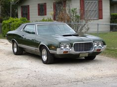 Ford Gran Torino 72 - Uncle Pancho had one of these (painted Starsky & Hutch style; I started in my moms driveway, it was in gear and drove through the metal shed.