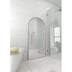 Millwood Pines Kacey Wall Mirror   Wayfair.ca Double Dresser, Dresser With Mirror, Vinyl Wall Panels, Arch Mirror, Wall Mirror, Lighted Mirror, Mirror Painting, Single Bathroom Vanity, Master Bathroom