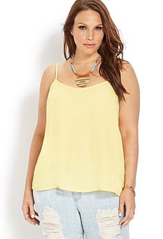 Breezy Woven Cami | FOREVER21 PLUS - 2000089551