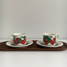 Vintage Arabia Finland coffee cup and saucer named