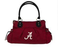 "University Of Alabama Purse ""Cameron"" Alabama Crimson Tide Handbag Roll Tide"