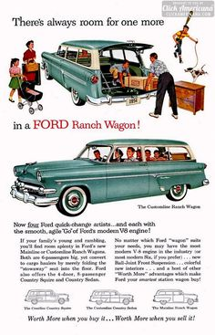 1954 Ford Ranch Wagons: 2-door double-duty dandy