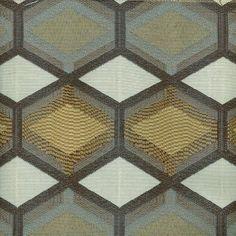 ON SALE - Charcoal Grey Geometric Upholstery Fabric