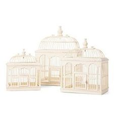 Decorative vintage Bird cages, beautiful when hanging from a tree filled with candles and flowers