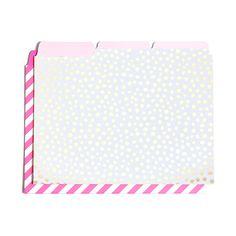 get it sorted file folder set - petite party dots   ticket stripe #bts-15 #gold-dots #ticket-stripe