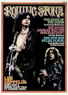 Jimmy Page and Robert Plant ('75) Rolling Stone cover