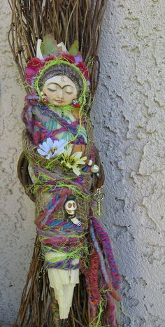 Frida's Moon Garden  Assemblage Art doll by Griselda by awesomeart, $95.00