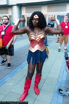 Jay Justice rocking Wonder Woman