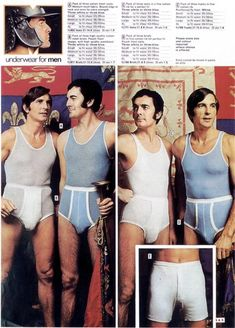 vintage everyday: What Are These Guys Thinking? Here Are The 24 Most Ridiculous Vintage Men's Underwear Ads We Could Find Retro Fashion, Vintage Fashion, Mens Fashion, Vintage Advertisements, Vintage Ads, Vintage Underwear, Men's Underwear, Black Muscle Men, Men's Undies