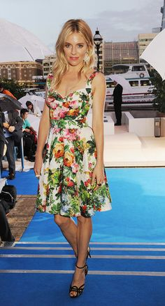 Style Set: The Weeks Best Dressed: Erin Heatherton, Karlie Kloss, and Behati Prinsloo were a rainbow of pretty, flirty hues at the New York Body by Victoria Secret celebration. : Sienna Miller helped unveil BMW's first electric car in a playful floral dress.