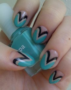 Nice-Lovely-and-Easy-Nail-Art-Design-Green-Color.jpg (710×900)