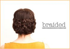 Wedding hair, braided hair/braided bun