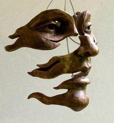Michael Alfano face sculpture art