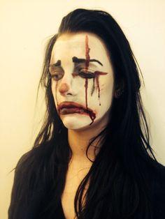 MUA Elizabeth Lake modelled by Chloe Edmunds the sad clown