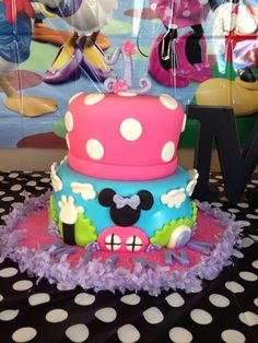 Mickey Mouse Clubhouse girly bday cake
