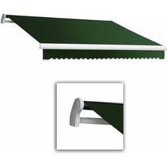 Maui-LX Right Motor with Remote Retractable Awning, 16 ft.W x 10 ft.Proj, Green