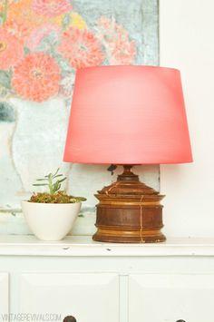 DIY: lampshade made from tights