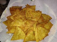 Tortilla Chips - Make restaurant style chips at home. Easy to make and great to eat.