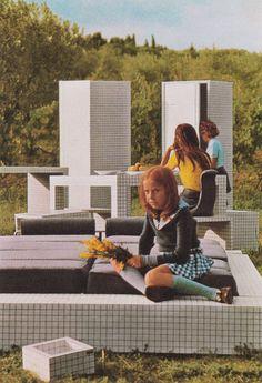 Superstudio, Quaderna Furniture Range, Circa 1970  Superstudio Furniture Sculpture Photography