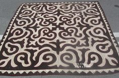 handcrafted felt rug carpet shyrdak shirdak from Kyrgyzstan
