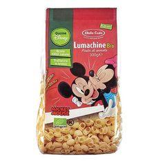 Descriere • Mini paste bio Mickey Mouse si Minnie in forma de melcisori din gris, de grau dur organic, extrudate in matrite de bronz si uscate la temperatura scazuta. • Potrivit pentru hranirea copiilor peste 3 ani. • Magia Disney la masa pentru un inceput 100% organic!• Certificare: IT-BIO-006.• Contine gluten. Propri Disney Cars, Cereal, Mickey Mouse, Food, Magick, Meal, Michey Mouse, Essen, Hoods