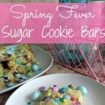 Spring Fever Sugar Cookie Bars