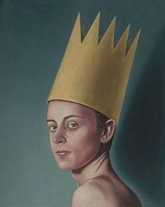 'Bigger Paper King', oil on linen, 50 x 40 cm, 2017 www.petercolstee.com
