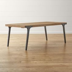 Crate & Barrel Lakin Recycled Teak Extendable Dining Table ($1,899) ❤ liked on Polyvore featuring home, furniture, tables, dining tables, crate and barrel dining table, teak dining table, teak table, butterfly leaf dining table and crate and barrel