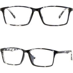 4e99a7a8cd Details about Rectangle Mens Womens Acetate Frame Jeans Plastic Eyeglass Glasses  Spring Hinges