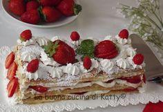 La buona cucina di Katty: Millefoglie di fragole con crema Chantilly
