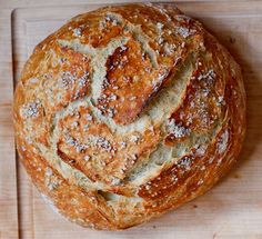 No Knead Rustic Bread, with Cranberry Orange, Sea Salt, and Cheddar Jack variations