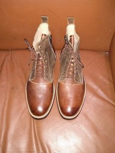 Handcrafted Men's Leather Boots. Rough look / Antique by Barismil