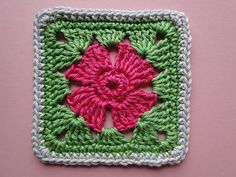 Ravelry: 4 Petal Flower Square pattern by Claire from Crochet Leaf