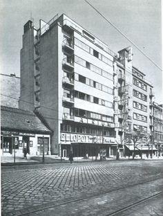 ! Budapest, Margit körút, Átrium mozi és bérház, 1936. / Kozma Lajos