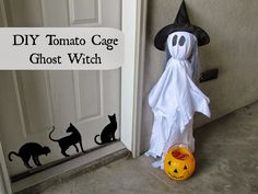 Home Maid Simple: DIY Tomato Cage Ghost
