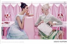 Louis Vuitton, Spring 2012 #campaign | Daria Strokous & Kati Nescher by Steven Meisel #soda_fountain #pastel