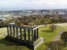 The National Monument on Edinburgh's Calton Hill.  Our tips for things to do in Edinburgh: http://www.europealacarte.co.uk/blog/2011/12/19/edinburgh-tips/