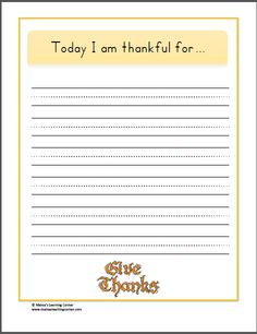 Writing: Thankful Pages