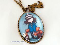 Collar camafeo Muñeca Gorjuss REF.107 de La Tienda Vintage de Kima por DaWanda.com