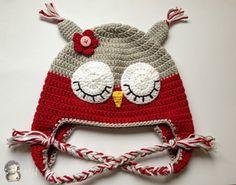 MADRES HIPERACTIVAS: Gorrito Búho a Crochet