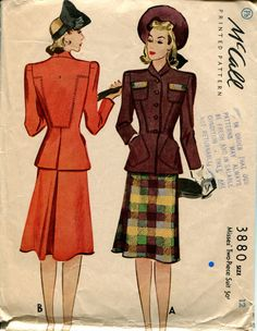 McCall 3880: Misses' two-piece suit pattern  www.myhappysewingplace.com