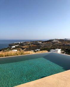 """Sneak peek from our brand new luxury villa """"Oasis Estate"""" in Mykonos🙈 Luxury Villas In Greece, Mykonos Greece, Greek Islands, Luxury Living, Oasis, Real Estate, River, Outdoor Decor, Summer"""