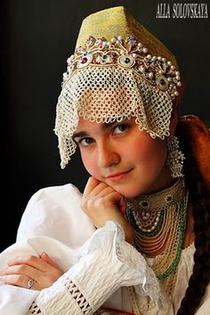 Kokoshnik is one of the very important elements of Russian traditional clothing. (7)