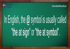 TESOL ESL [ English Facts ] @ symbol