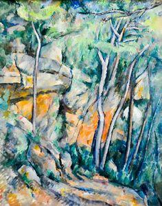 Paul Cezanne - Dans le parc de Chateau Noir, 1900 at Musée de l'Orangerie Paris France